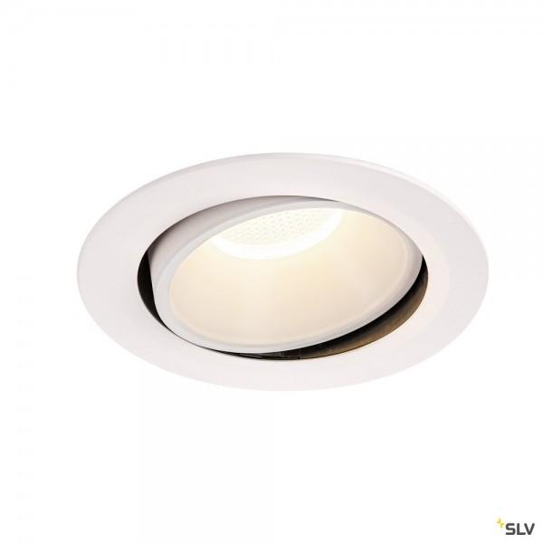 SLV 1003758 Numinos Move XL, Deckeneinbauleuchte, weiß, LED, 37,4W, 4000K, 3800lm, 20°