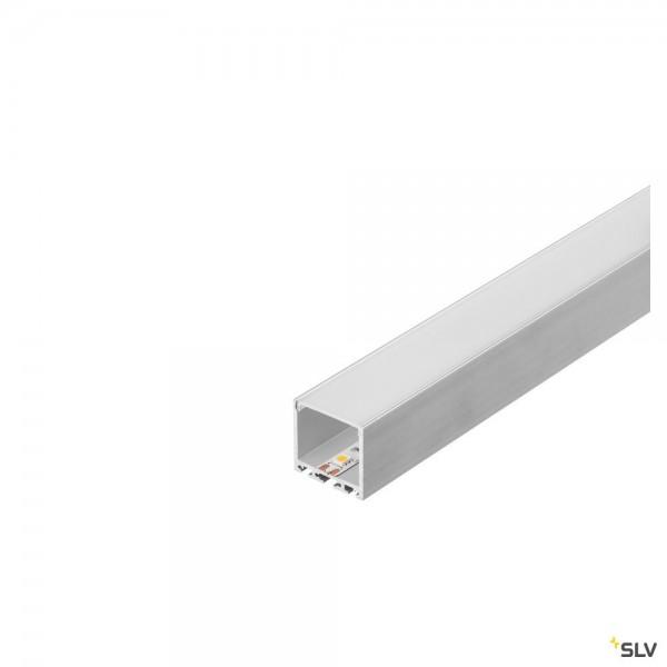 SLV 213634 Glenos 3030, Aufbauprofil, silbergrau, B/H/L 3,5x3,5x300cm, LED Strips max.B.3cm