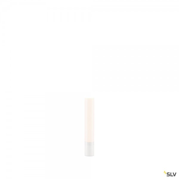 SLV 234430 + 234401 Light Pipe, Spiessleuchte, weiß, IP55, dimmbar Triac C+L, LED, 11W, 2700K, 630lm