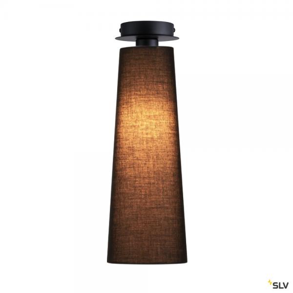 SLV 155550 + 156200 Fenda, Deckenleuchte, schwarz, Ø15cm, E27, max.60W