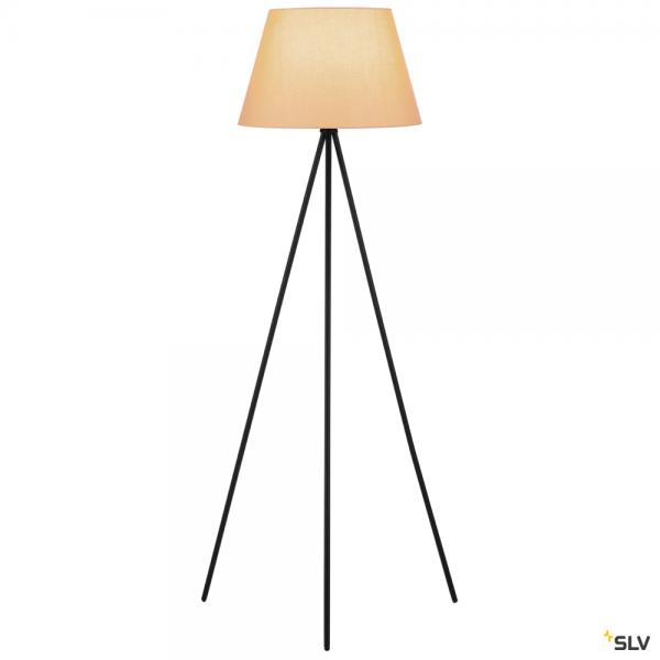 SLV 155490 + 156183 Fenda, Stehleuchte, schwarz/beige, Ø45,5cm, E27, max.40W
