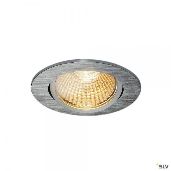 SLV 1003067 New Tria 68, Deckeneinbauleuchte, aluminium, dimmbar Triac C+L, LED, 12W, 2700K, 800lm
