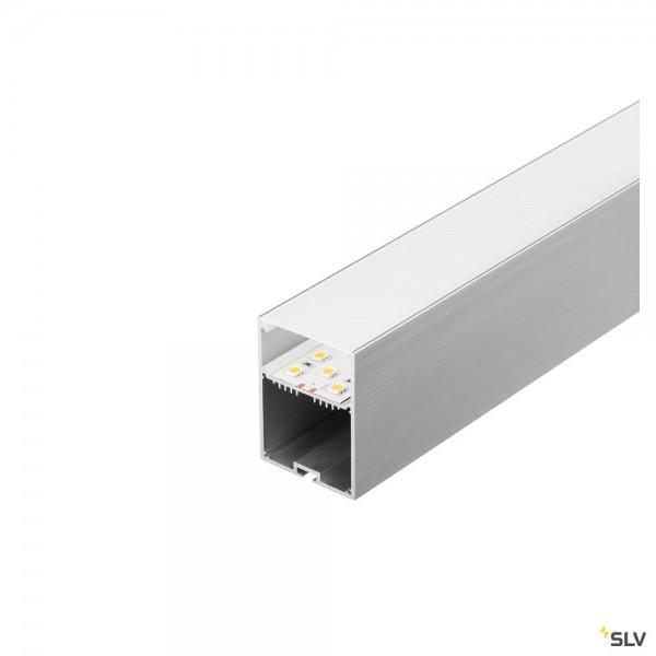 SLV 213464 Glenos 4970, Aufbauprofil, alu eloxiert, B/H/L 4,9x7x100cm, LED Strips max.B.2x3,7cm
