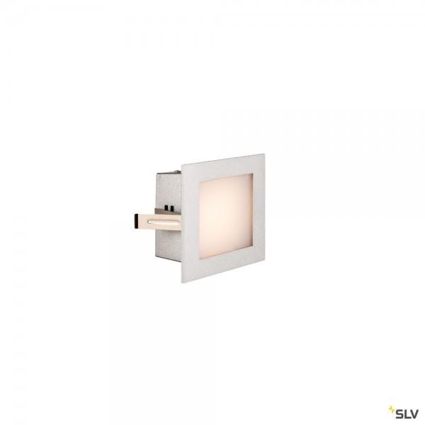 SLV 1000577 Frame Basic, Wand- und Deckeneinbauleuchte, silbergrau, LED, 3,1W, 2700K, 140lm