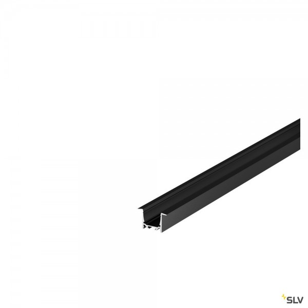 SLV 1000495 Grazia 5232, Einbauprofil, schwarz, B/H/L 5,2x3,2x200cm, LED Strip max.B.2cm