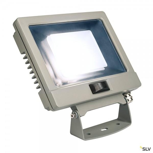 SLV 232894 Spoodi Sensor, Strahler, silbergrau, mit Netzstecker, IP65, LED, 30W, 4000K, 2500lm