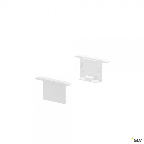SLV 1000557 Grazia 20, Endkappen, weiß, 2 Stück