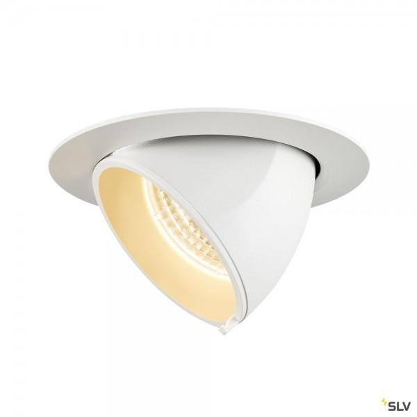 SLV 1002880 Gimble In 100, Deckeneinbauleuchte, weiß, LED, 13W, 3000K, 990lm