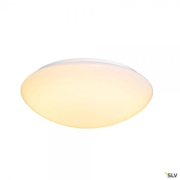 SLV 1002022 Lipsy 50 Dome, Wand- und Deckenleuchte, weiß, IP44, LED, 21W, 3000K/4000K, 2400lm