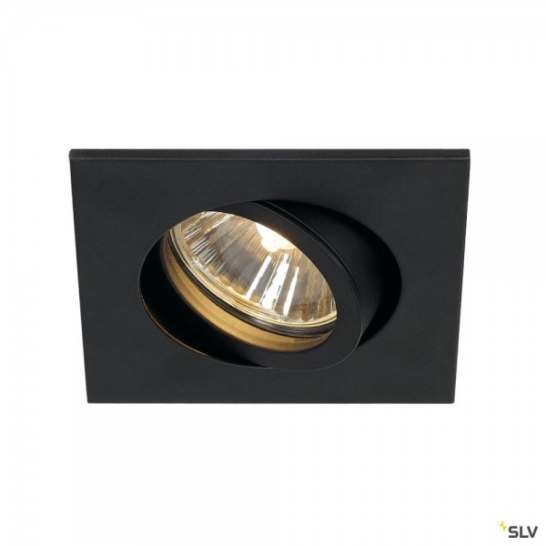 SLV 1001994 New Tria 68, Deckeneinbauleuchte, schwarz, QPAR51, GU10, max.50W