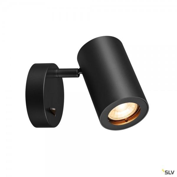 SLV 1000729 Enola_B, Strahler, schwarz, mit Schalter, QPAR51, GU10, max.50W
