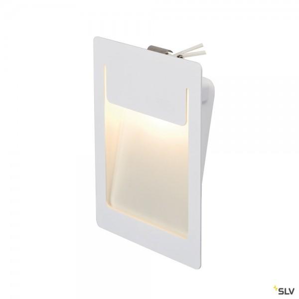 SLV 151952 Downunder Pur 155, Wandeinbauleuchte, weiß, LED, 5,2W, 3000K, 230lm