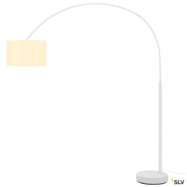 SLV 1003028 + 156111 Fenda Bow, Bogenleuchte, weiß, Ø45,5cm, E27, max.25W