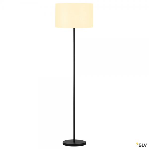 SLV 155790 + 156111 Fenda, Stehleuchte, schwarz/weiß, Ø45,5cm, E27, max.60W