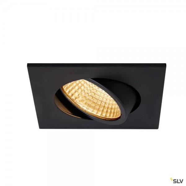 SLV 1003062 New Tria 68, Deckeneinbauleuchte, schwarz, LED, 5,3W, 2700K, 300lm