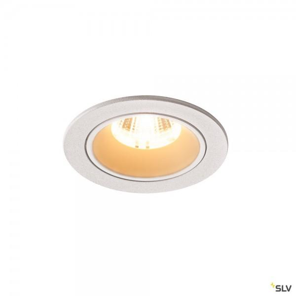 SLV 1003806 Numinos S, Deckeneinbauleuchte, weiß, LED, 8,6W, 3000K, 730lm, 20°