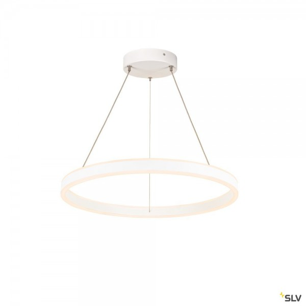 SLV 1004760 One 60, Pendelleuchte, up&down, weiß, dimmbar C, LED, 24W, 2700/3000K, 830lm