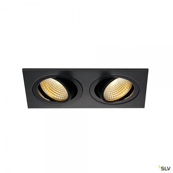 SLV 113890 New Tria 2 Set, Deckeneinbauleuchte, schwarz matt, LED, 14W, 2700K, 1160lm