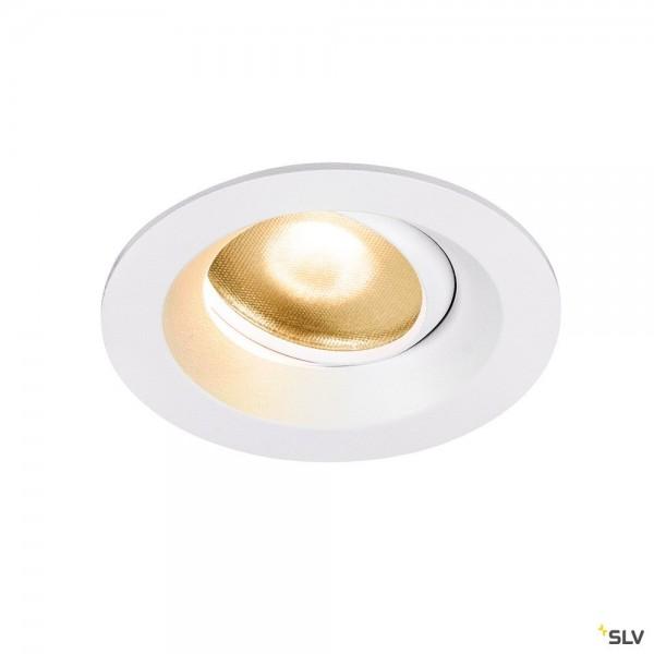 SLV 1003037 Dingilo, Deckeneinbauleuchte, weiß, IP44, LED, 4,4W, 2700K, 330lm