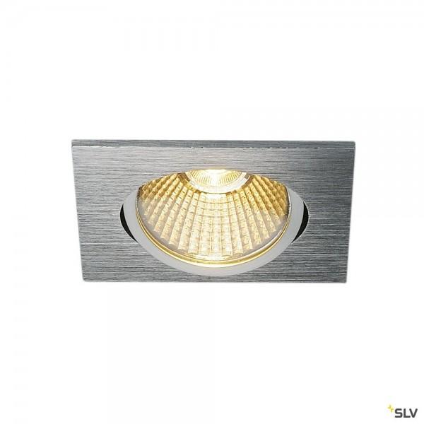 SLV 114396 New Tria 68, Einbauleuchte, alu gebürstet, dimmbar Triac C+L, LED, 11W, 3000K, 890lm