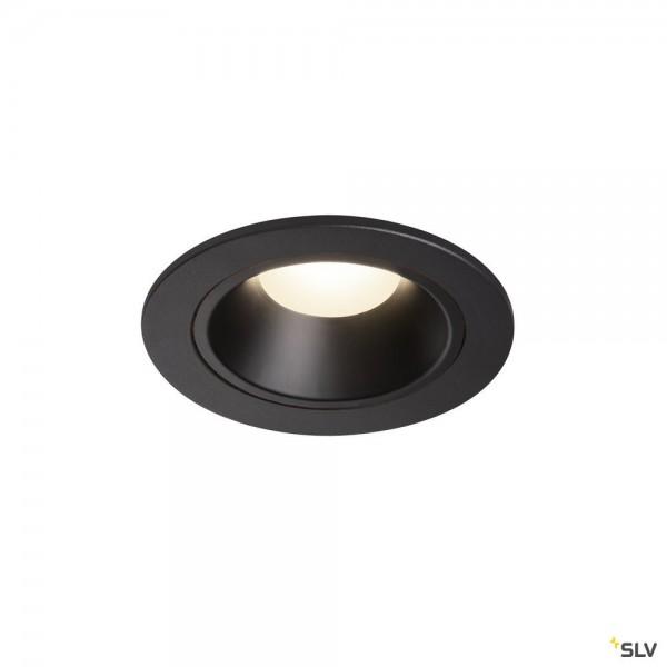 SLV 1003817 Numinos S, Deckeneinbauleuchte, schwarz, LED, 8,6W, 4000K, 730lm, 20°