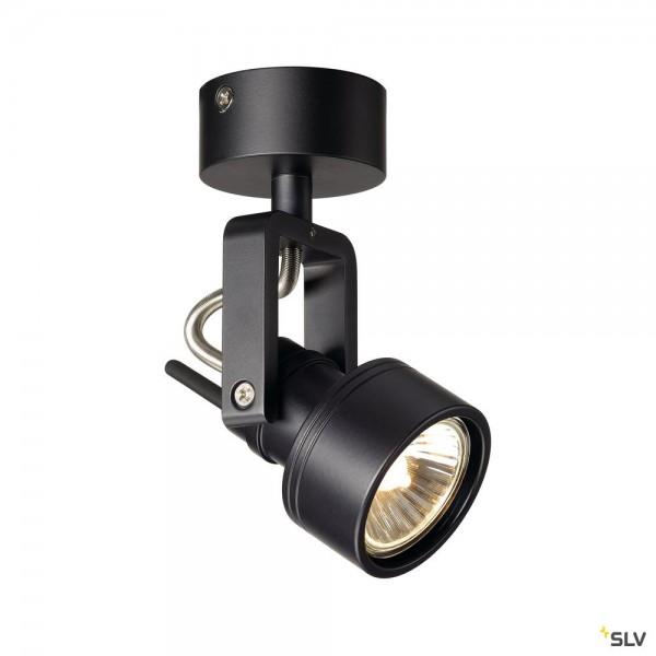 SLV 147550 Inda, Strahler, schwarz matt, QPAR51, GU10, max.50W