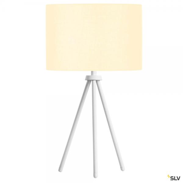 SLV 1003032 + 155582 Fenda, Tischleuchte, weiß, Ø30cm, E27, max.40W