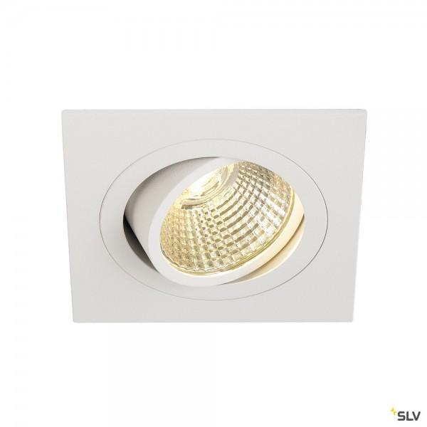 SLV 113911 New Tria 1 Set, Deckeneinbauleuchte, weiß, LED, 8W, 3000K, 700lm