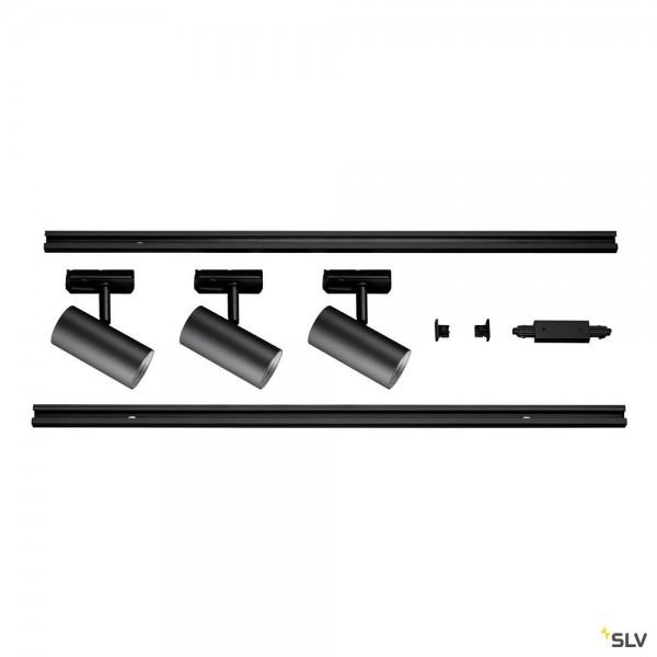 SLV 1002610 Noblo Set, 1Phasen, Strahler, schwarz, LED, 22,5W, 2700K, 1860lm