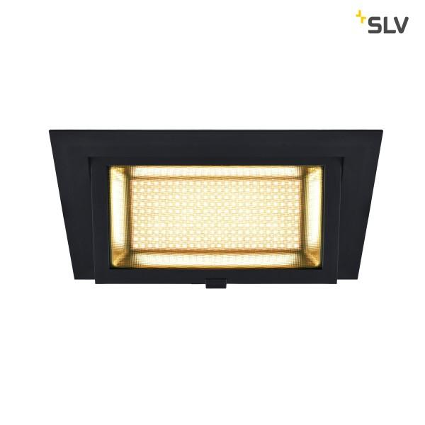 SLV 1000788 Alamea, Deckeneinbauleuchte, schwarz, LED, 36W, 3000K, 3600lm