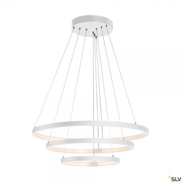 SLV 1002914 One Triple, Pendelleuchte, weiß, dimmbar Dali, LED, 65W, 3000K/4000K, 4200lm