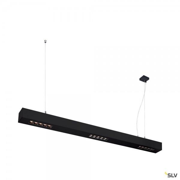 SLV 1000927 Q-Line, Pendelleuchte, schwarz, dimmbar Triac L, LED, 45W, 3000K, 2100lm