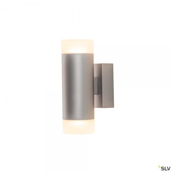SLV 1002932 Astina, Wandleuchte, grau, up&down, QPAR51, GU10, max.2x10W