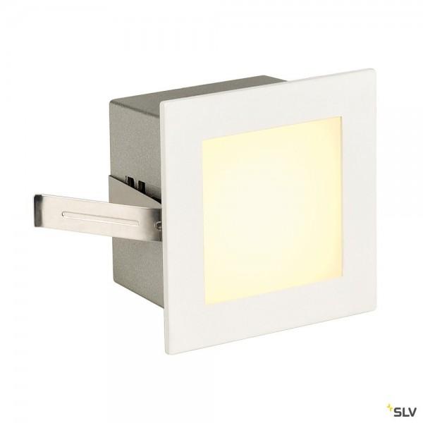 SLV 113262 Frame Basic, Wand- und Deckeneinbauleuchte, weiß matt, LED, 1W, 3000K, 40lm