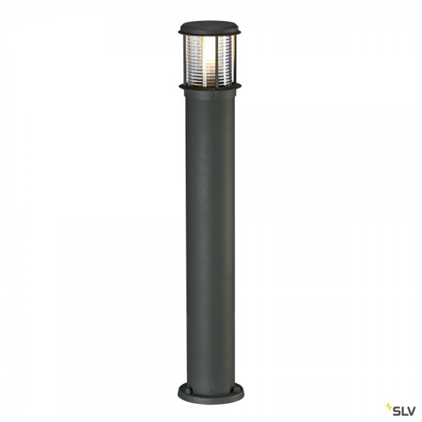 SLV 230465 Otos Glas, Standleuchte, anthrazit, IP43, E27, max.15W
