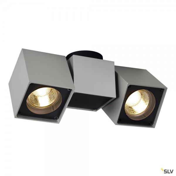 SLV 151534 Altra Dice, Strahler, silbergrau/schwarz, QPAR51, GU10, max.2x50W