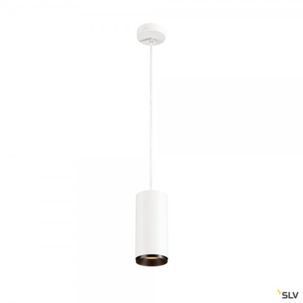 SLV 1004344 Numinos L, Pendelleuchte, weiß/schwarz, dimmbar C, LED, 28W, 2700K, 2475lm, 60°