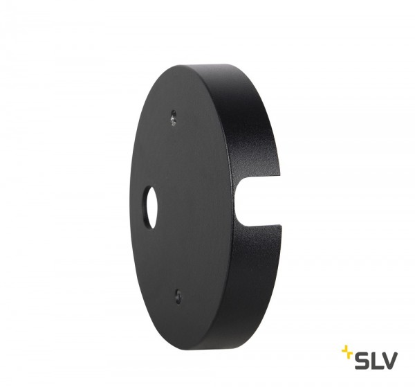 SLV 1002884 Montageplatte, schwarz, Nautilus