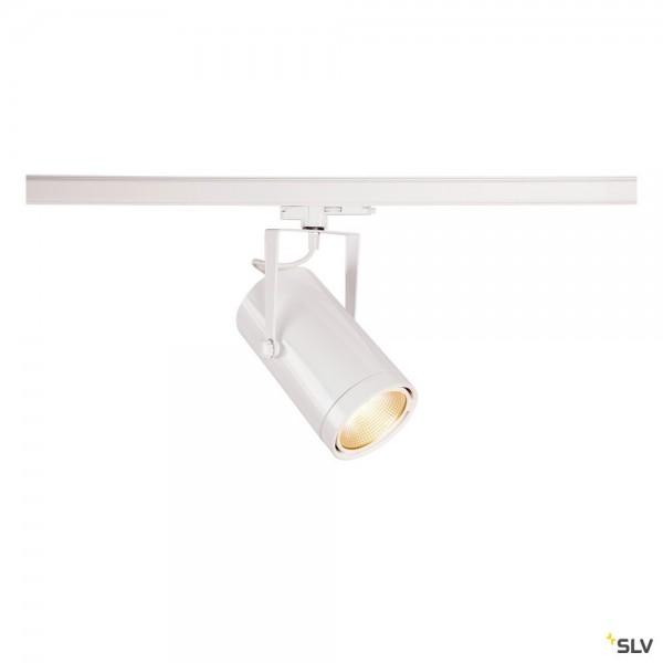 SLV 1002810 Euro Spot, 3Phasen, Strahler, weiß, dimmbar Dali, LED, 42W, 3000K, 2900lm, 15°