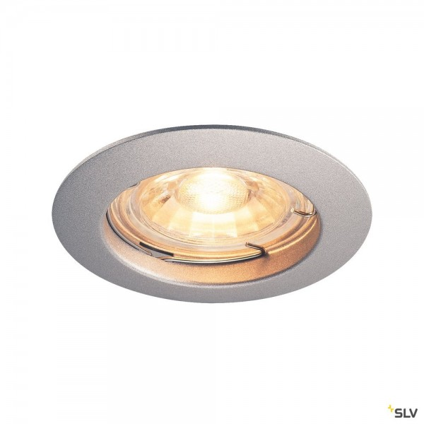 SLV 1000717 Pika, Deckeneinbauleuchte, silbergrau, QPAR51, GU10, max.50W