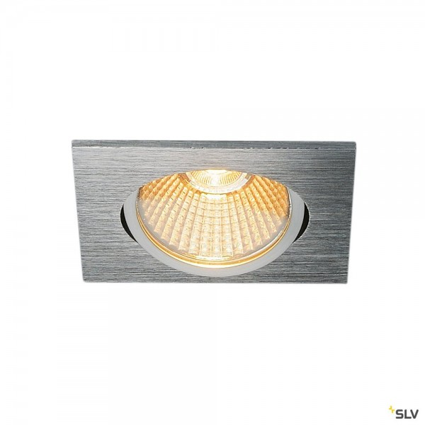 SLV 1003070 New Tria 68, Deckeneinbauleuchte, aluminium, dimmbar L, LED, 11W, 2700K, 800lm
