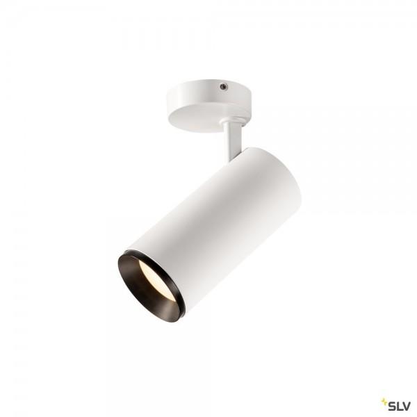 SLV 1004600 Numinos L, Strahler, weiß/schwarz, dimmbar Dali, LED, 28W, 4000K, 2715lm, 60°