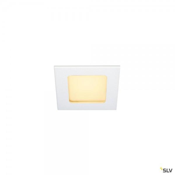 SLV 112721 Frame Basic, Wand- und Deckeneinbauleuchte, weiß matt, LED, 8,6W, 3000K, 445lm