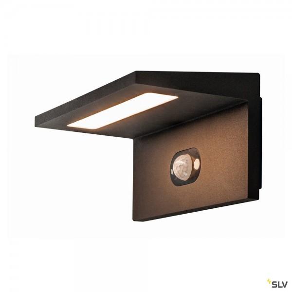 SLV 1002597 Angolux Solar Sensor, Wandleuchte, anthrazit, IP54, LED, 1,8W, 3000K, 150lm