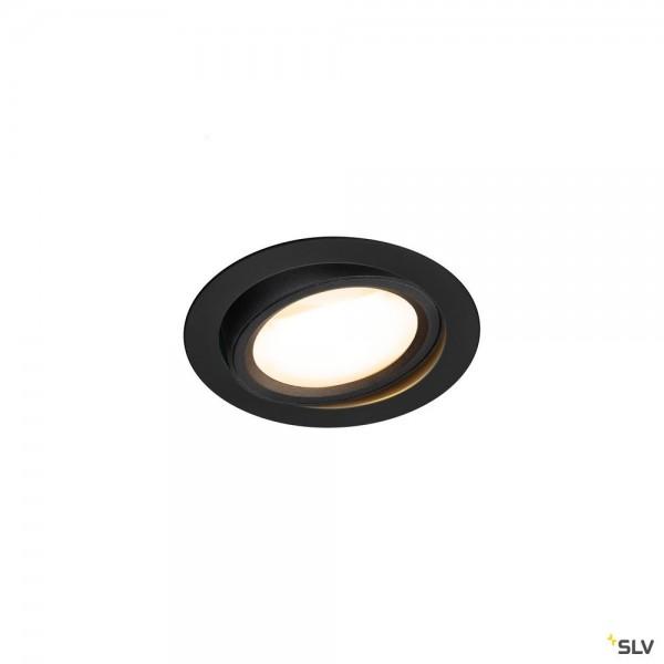 SLV 1004668 Oculus Move, Deckeneinbauleuchte, schwarz, Dim to Warm C, LED, 10,5W, 2000-3000K, 780lm