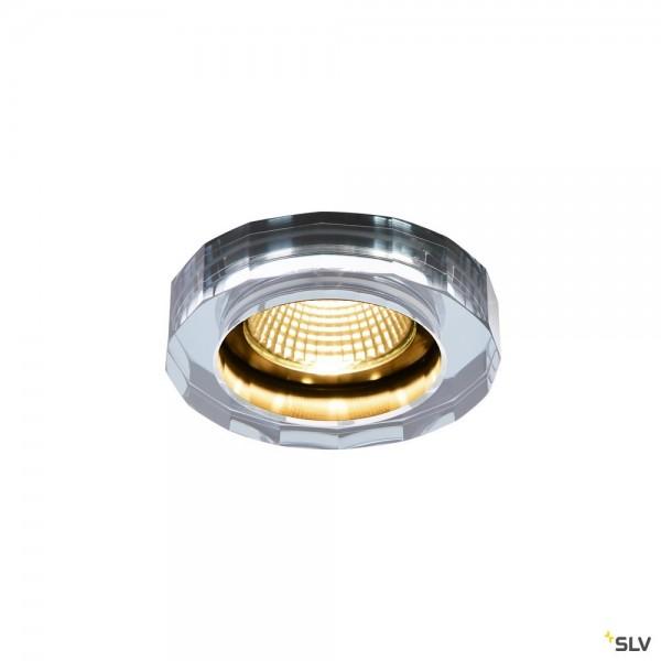 SLV 1002120 Crystal, Deckeneinbauleuchte, klar, Dim to Warm C+L, LED, 7,3W, 1800K-3000K, 460lm