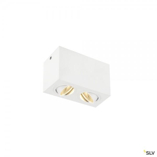 SLV 1002008 Triledo Double Square, Deckenleuchte, weiß, LED, 16W, 3000K, 1100lm