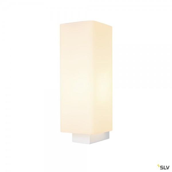 SLV 1003431 Quadrass, Wandleuchte, weiß, E27, max.40W