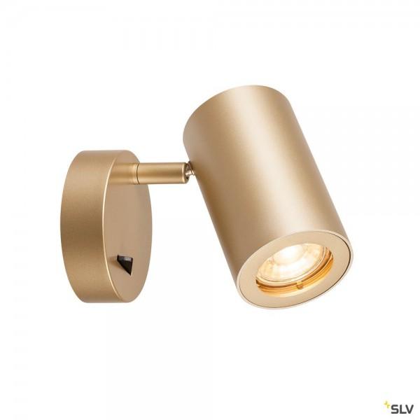 SLV 1000731 Enola_B, Strahler, gold, mit Schalter, QPAR51, GU10, max.50W