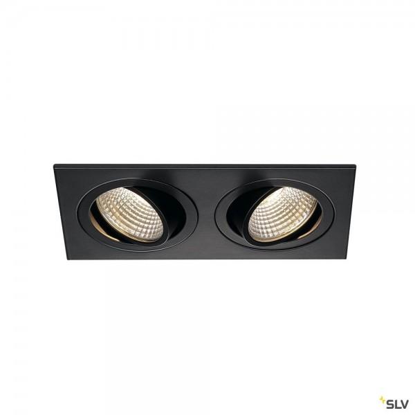 SLV 113920 New Tria 2 Set, Deckeneinbauleuchte, schwarz matt, LED, 14W, 3000K, 1250lm
